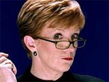 Anne Robinson makes 'Blue Peter' star cry