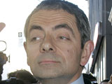 Rowan Atkinson crashes car