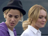Lohan, Ronson have 'huge bust-up'