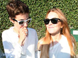 Lohan, Ronson leave London together