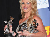 Britney celebrates MTV Awards hat-trick