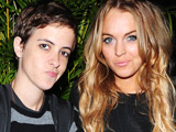 Lohan, Ronson 'have public fight'