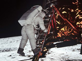 Moon walk 'most memorable TV first'