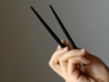 Stuck chopstick removed after 20 years