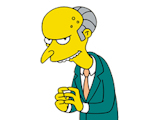 'Simpsons' Mr Burns popular in mayor race