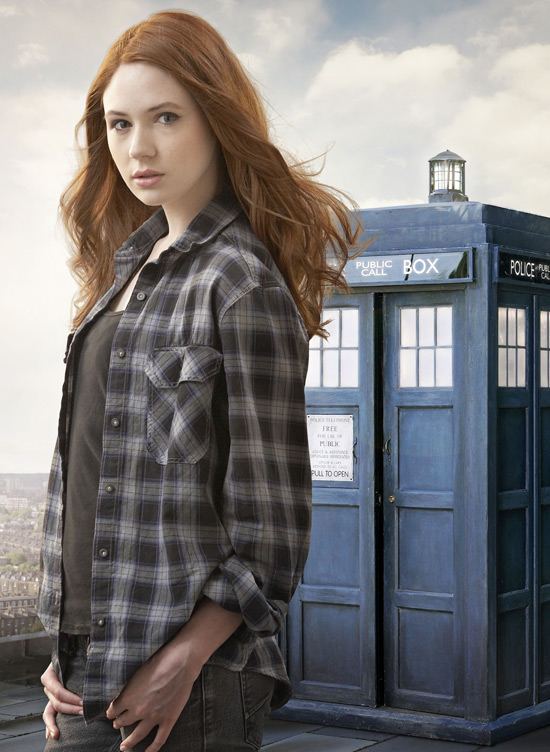 Everybody, please welcome Karen Gillan... The relative newcomer previously ...