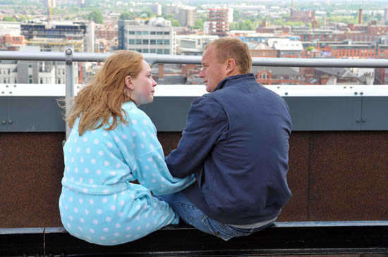 potd corrie 39 s claire and ashley on the roof. Black Bedroom Furniture Sets. Home Design Ideas