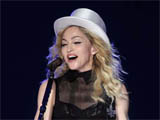 Madonna appears on stage with daughter