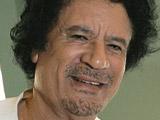 Gaddafi translator 'quits mid-speech'