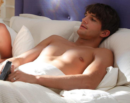 Can we tempt anyone with a sexy Ashton Kutcher film still? Another?