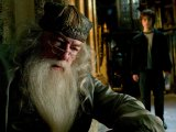Dumbledore actor &quot;camps it up&quot; on set