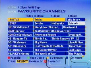 channels Sky adults